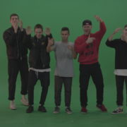 Break-dance-team-applaud-and-cheer-over-chromakey-background_007 Green Screen Stock