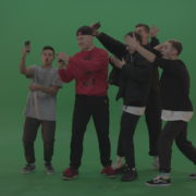 vj video background Break-dance-team-take-group-selfies-over-green-screen-background_003