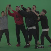 Break-dance-team-take-group-selfies-over-green-screen-background_004 Green Screen Stock