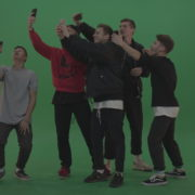 Break-dance-team-take-group-selfies-over-green-screen-background_006 Green Screen Stock