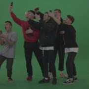 Break-dance-team-take-group-selfies-over-green-screen-background_007 Green Screen Stock