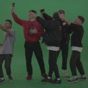Break-dance-team-take-group-selfies-over-green-screen-background_008 Green Screen Stock