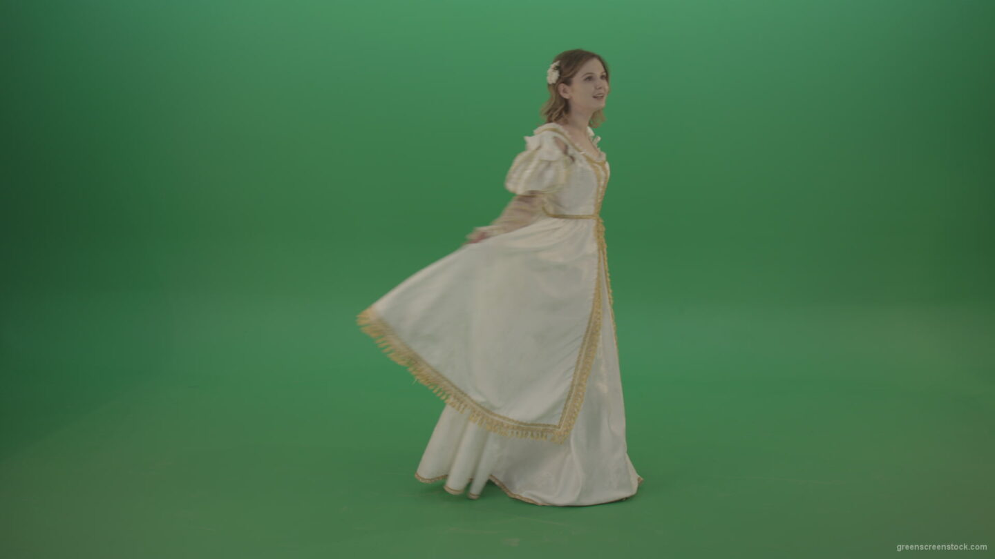 vj video background Cheerful-girl-dancing-around-the-circle-isolated-on-green-screen_003