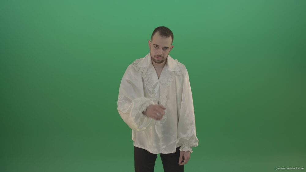 vj video background Maniac-man-was-very-angry-asking-for-silence-showing-sign-isolated-in-green-screen-studio_003