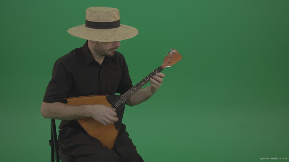 vj video background Village-guy-in-the-hat-plays-fun-on-the-balalaika_003