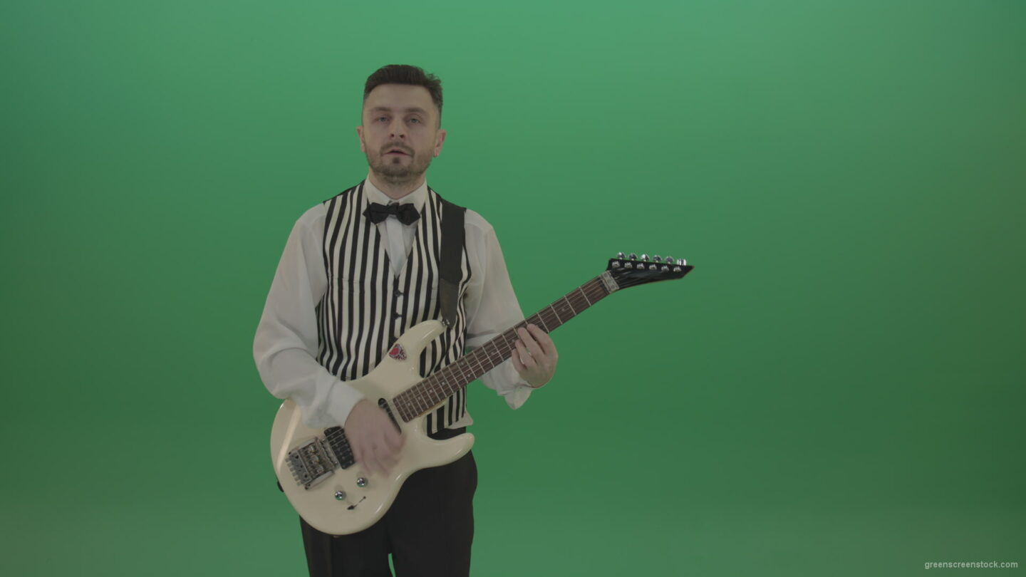 vj video background Wedding-guitarist-playing-guitar-in-green-screen-studio_003