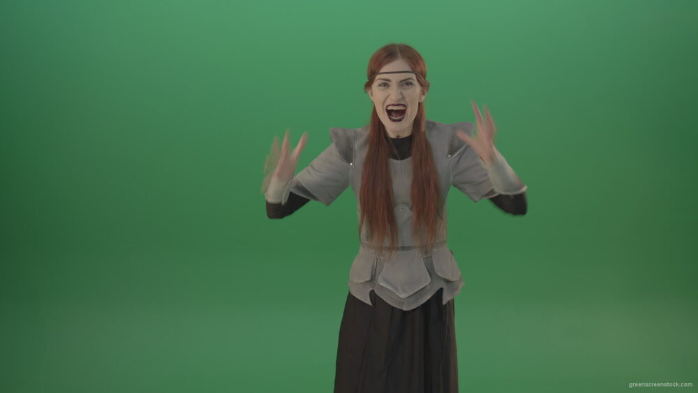 vj video background Witch-aggressively-shouts-at-the-camera-provoking-the-viewer_003