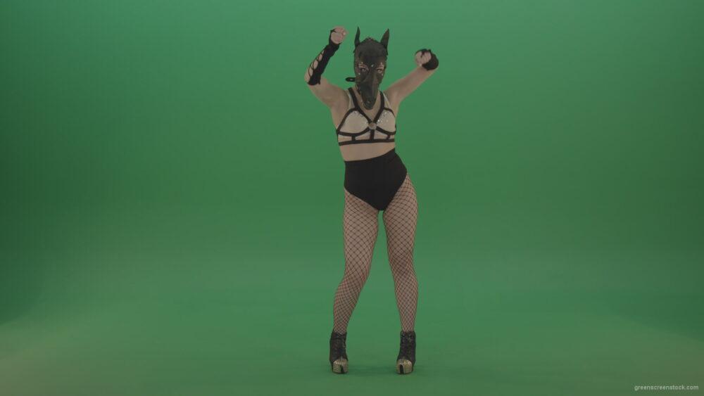 vj video background Fetish-bdsm-girl-making-beats-in-full-size-on-green-screen_003