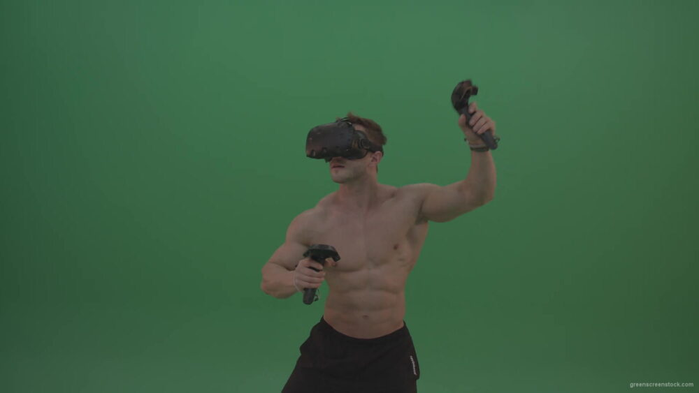 vj video background Green-Screen-Bodybuilder-in-VR-Green-Screen-Stock-Footage-12-1920_003