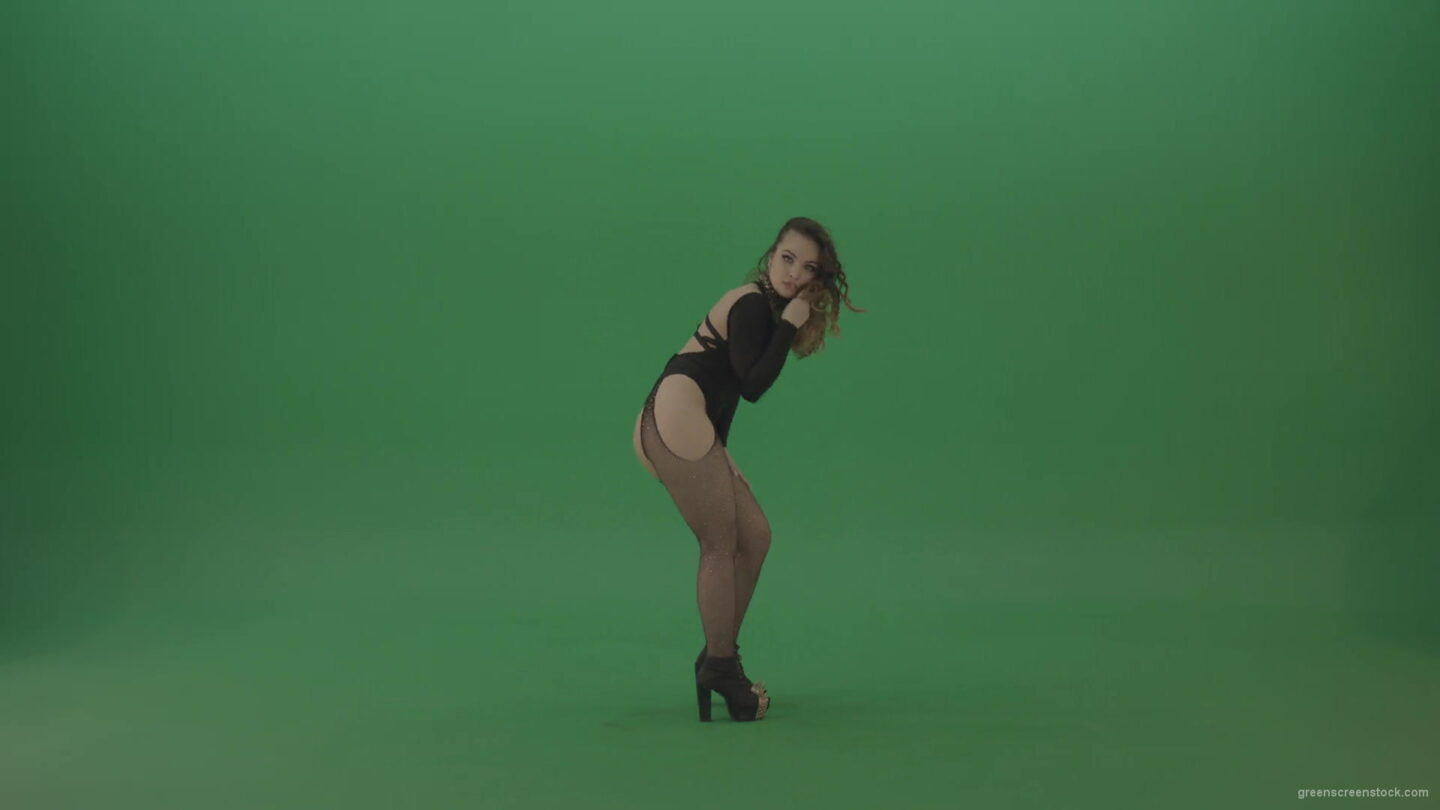 vj video background Elegant-Sexy-Dance-by-go-go-dancing-girl-in-black-dress-on-green-screen-1920_003