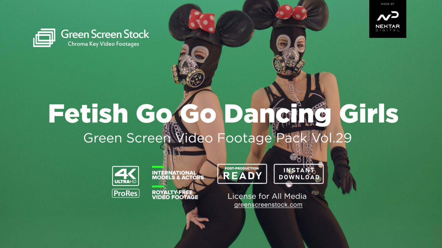 Fetish Go Go Dancing Girls Green Screen Video Footage Pack