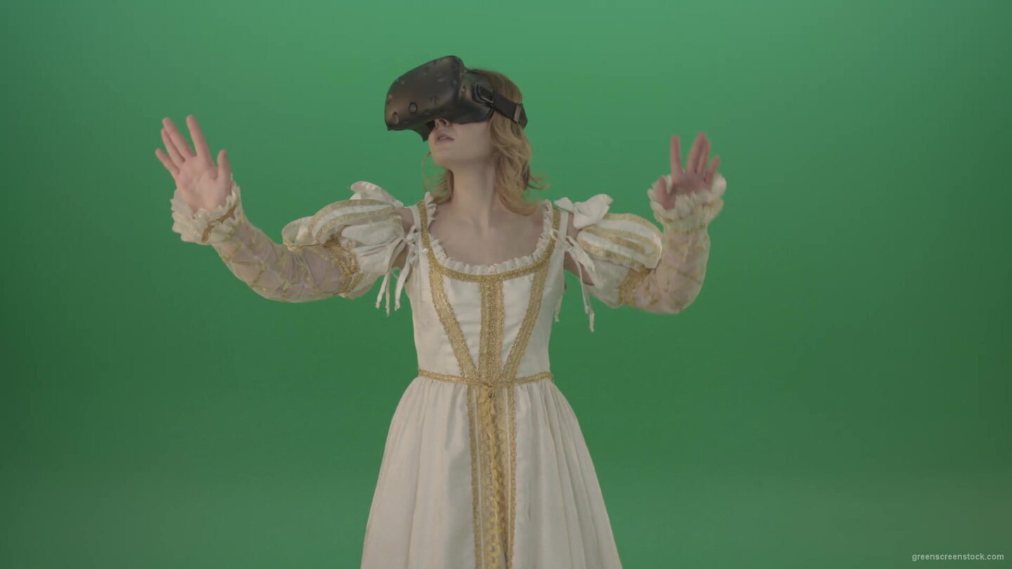 vj video background Girl-in-3-in-virtual-reality-has-swallowed-up-in-another-three-dimensional-world-isolated-on-green-screen-1920_003