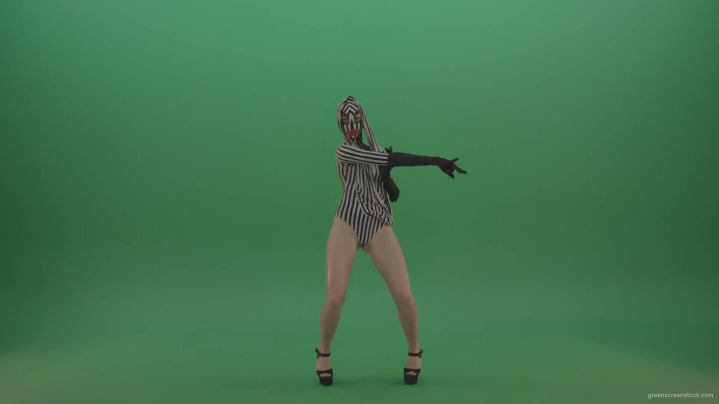 vj video background Go-Go-Woman-dancing-club-dance-in-fetish-costume-on-green-screen-1920_003