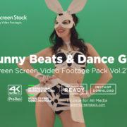 Green Screen Video Footage Pack Bunny Beats & Dance Girl