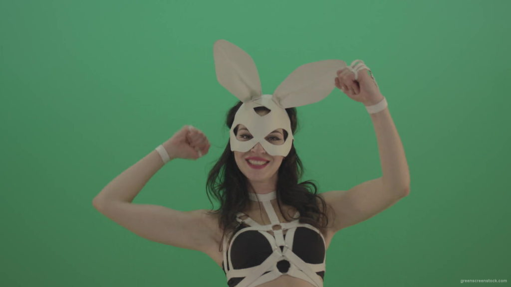 Kombat-Beat-Fist-by-Bunny-Rabbit-Girl-over-Green-Screen-1920_006 Green Screen Stock