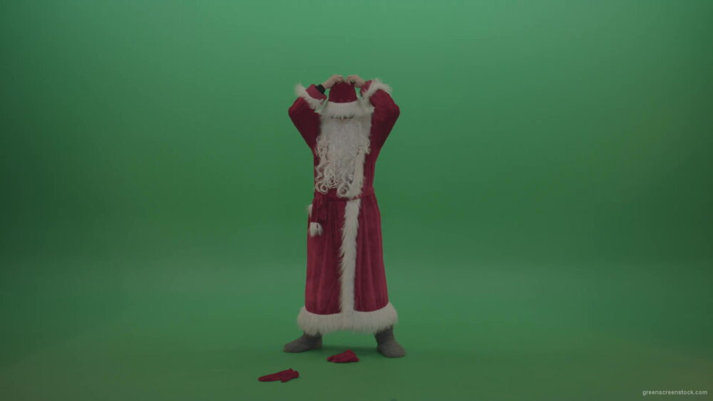 vj video background Man-takes-off-his-santa-costumes-over-green-screen-background-1920_003