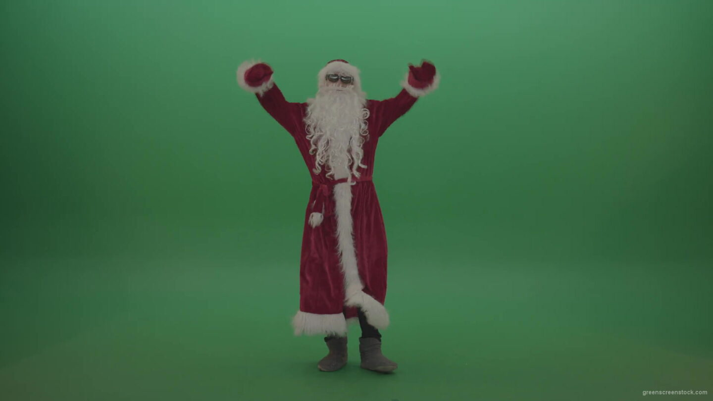 vj video background Santa-with-much-swagger-over-the-green-screen-background-1920_003