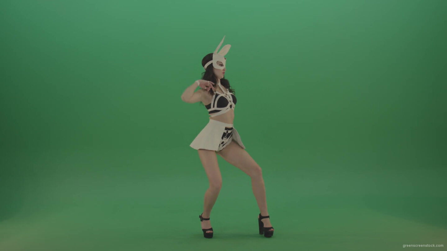 vj video background Sexy-posing-Bunny-Girl-dancing-Go-Go-Rabbit-Dance-over-Green-Screen-1920_003