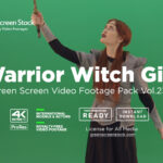 warrior witch girl woman video footage green screen
