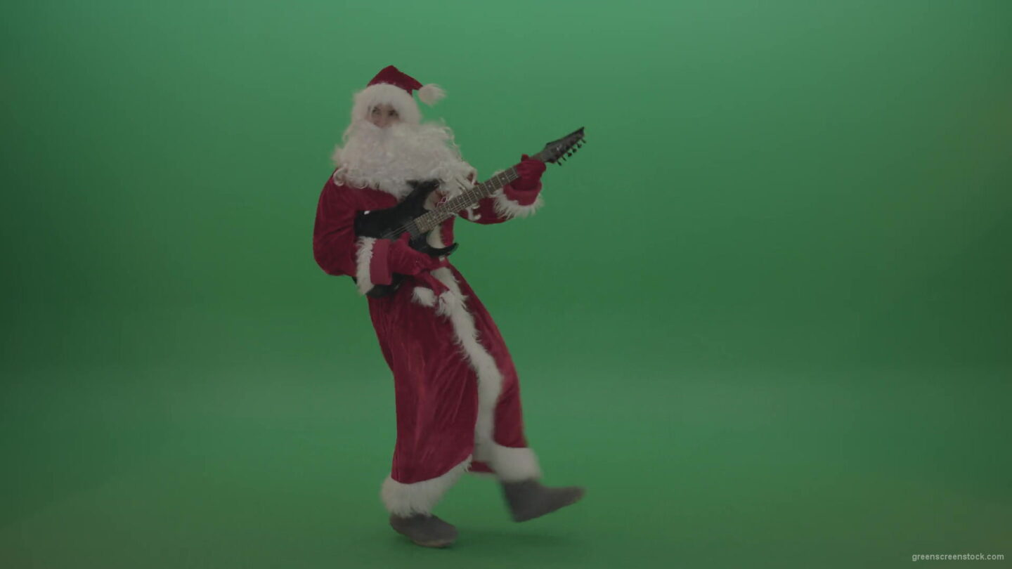 happy-santa-plays-his-guitar-in-a-stylish-fashion-over-chromakey-background-1920_008 Green Screen Stock