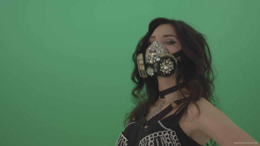 vj video background Black-hair-girl-in-diamond-fashion-mask-moving-head-on-chromakey-1920_003