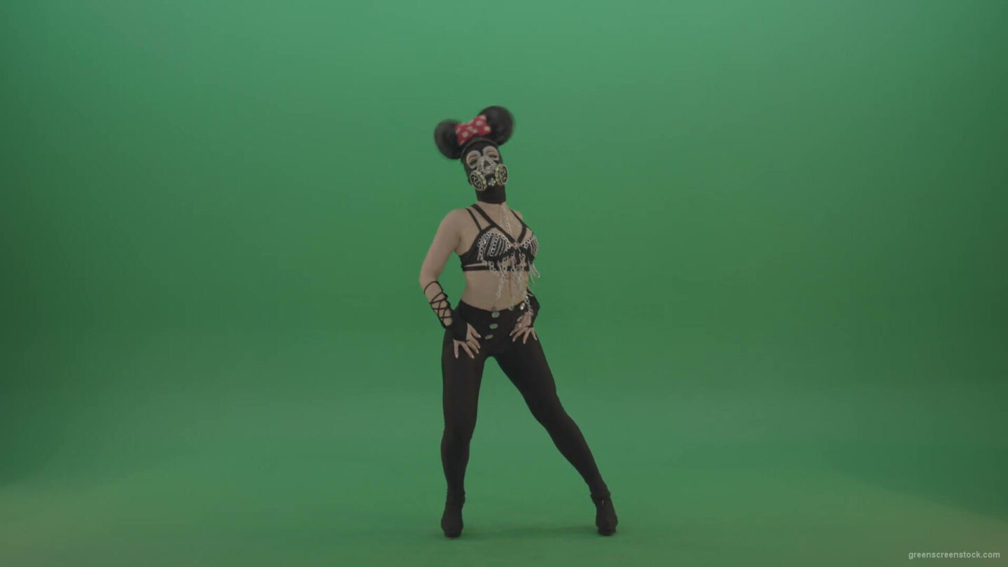 vj video background Girl-quickly-dances-in-the-style-of-Mickey-Mouse-on-the-sides-of-a-sexy-costume-on-green-screen-1920_003