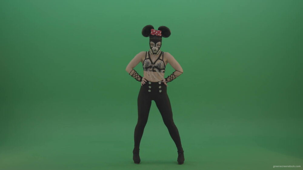 vj video background Mickey-Mouse-girl-dancing-cyclically-in-the-sides-of-a-sexy-costume-on-green-screen-1920_003
