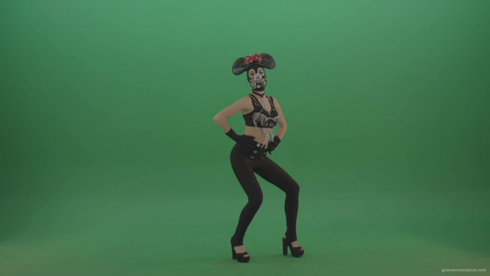 vj video background Sexy-dancing-mouse-girl-slowly-dance-in-mask-on-green-screen-1920_003