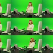 Laughing-Business-Woman-is-Talking-on-the-Phone-Green-Screen-Footage Green Screen Stock