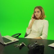 Laughing-Business-Woman-is-Talking-on-the-Phone-Green-Screen-Footage_002 Green Screen Stock