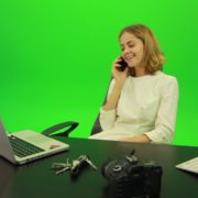 Laughing-Business-Woman-is-Talking-on-the-Phone-Green-Screen-Footage_004 Green Screen Stock