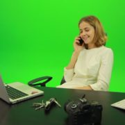 Laughing-Business-Woman-is-Talking-on-the-Phone-Green-Screen-Footage_006 Green Screen Stock