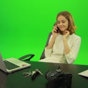 Laughing-Business-Woman-is-Talking-on-the-Phone-Green-Screen-Footage_007 Green Screen Stock