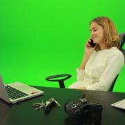Laughing-Business-Woman-is-Talking-on-the-Phone-Green-Screen-Footage_008 Green Screen Stock