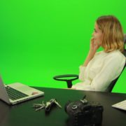 Laughing-Business-Woman-is-Talking-on-the-Phone-Green-Screen-Footage_009 Green Screen Stock