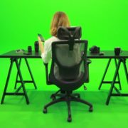 Woman-Searching-in-the-Phone-Green-Screen-Footage_008 Green Screen Stock