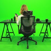 Woman-Searching-in-the-Phone-Green-Screen-Footage_009 Green Screen Stock