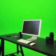 Woman-Sits-Down-and-Works-on-the-Computer-Green-Screen-Footage_001 Green Screen Stock