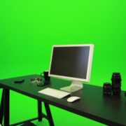 Woman-Sits-Down-and-Works-on-the-Computer-Green-Screen-Footage_002 Green Screen Stock