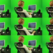 Woman-Working-on-the-Computer-5-Green-Screen-Footage Green Screen Stock
