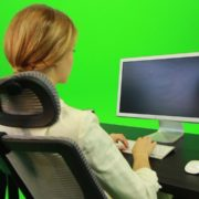 vj video background Woman-Working-on-the-Computer-5-Green-Screen-Footage_003