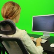 Woman-Working-on-the-Computer-5-Green-Screen-Footage_004 Green Screen Stock