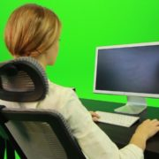 Woman-Working-on-the-Computer-5-Green-Screen-Footage_005 Green Screen Stock