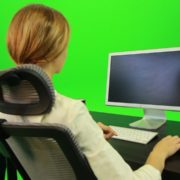 Woman-Working-on-the-Computer-5-Green-Screen-Footage_006 Green Screen Stock