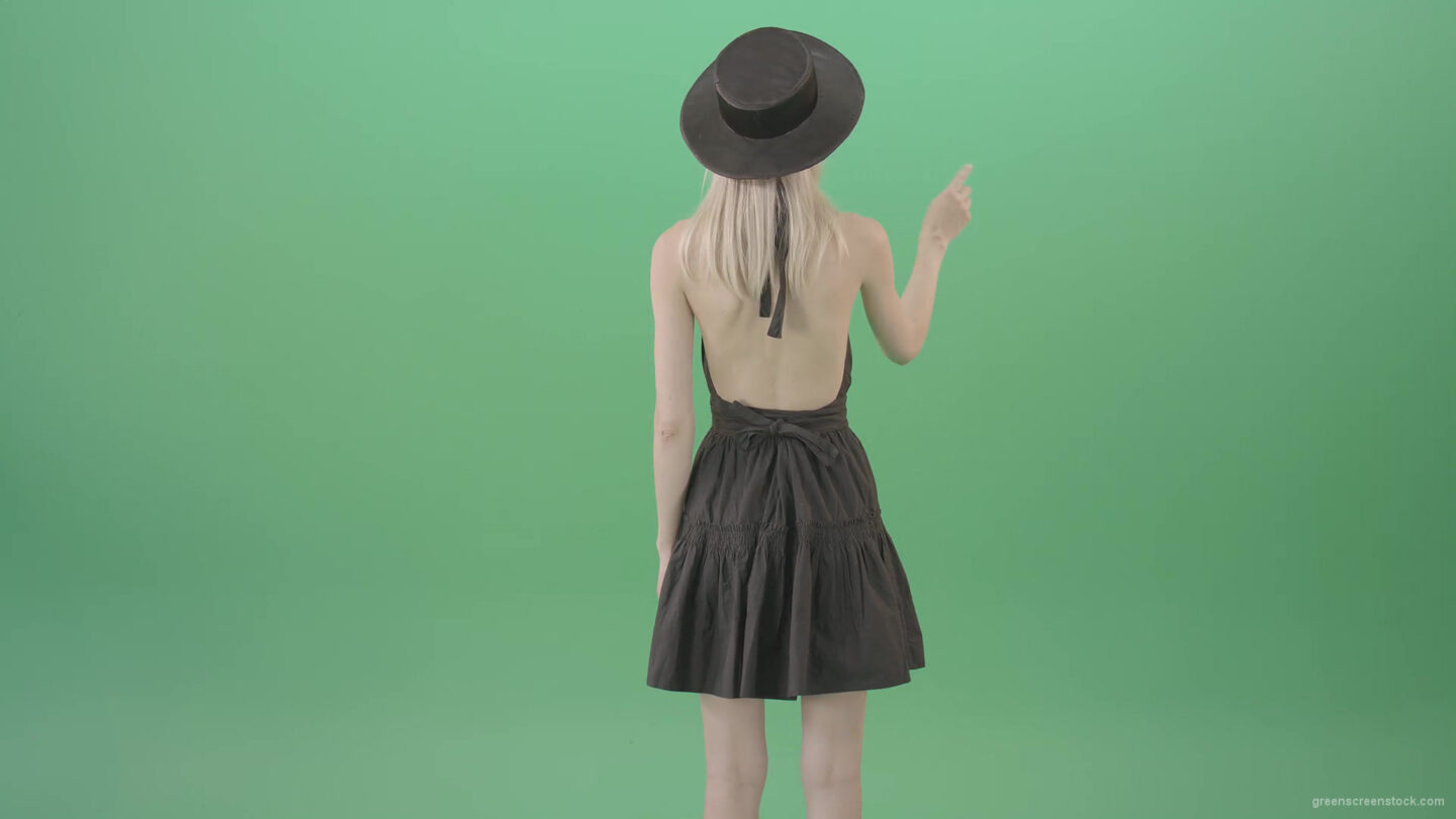 vj video background Back-view-Girl-sliding-digital-products-on-touch-screen-in-virtual-shop-4K-Green-Screen-Video-Footage-1920_003