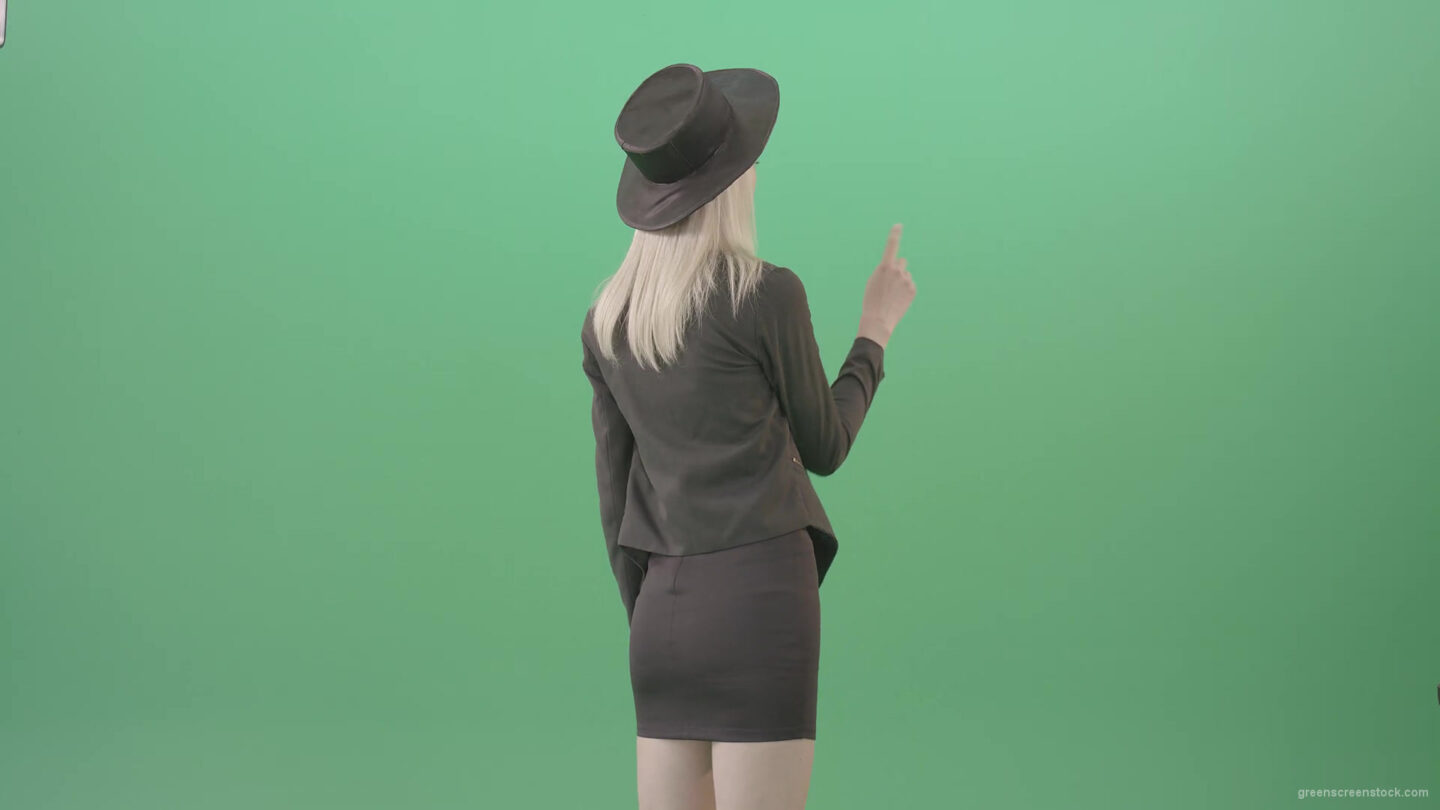 vj video background Blonde-Girl-looking-digital-virtual-products-on-touch-screen-from-back-side-4K-Green-Screen-Video-Footage-1920_003