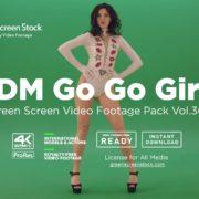 EDM Go Go Girls on green screen