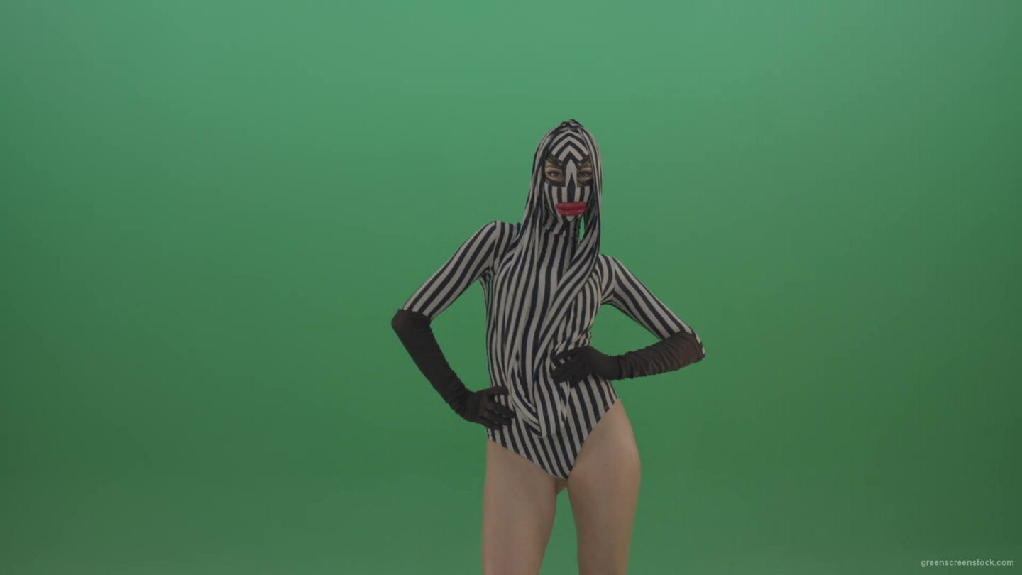 vj video background Girl-in-strip-dance-costume-and-big-lipps-posing-and-dancing-on-green-screen-1920_003