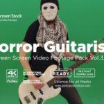 Horror-Guitarist on green screen