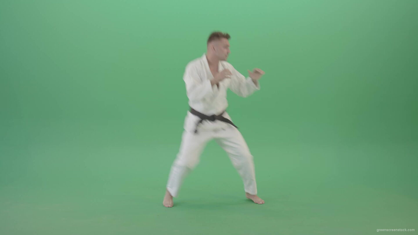vj video background Jujutsu-Man-trianing-to-fight-combat-isolated-on-green-screen-1920_003